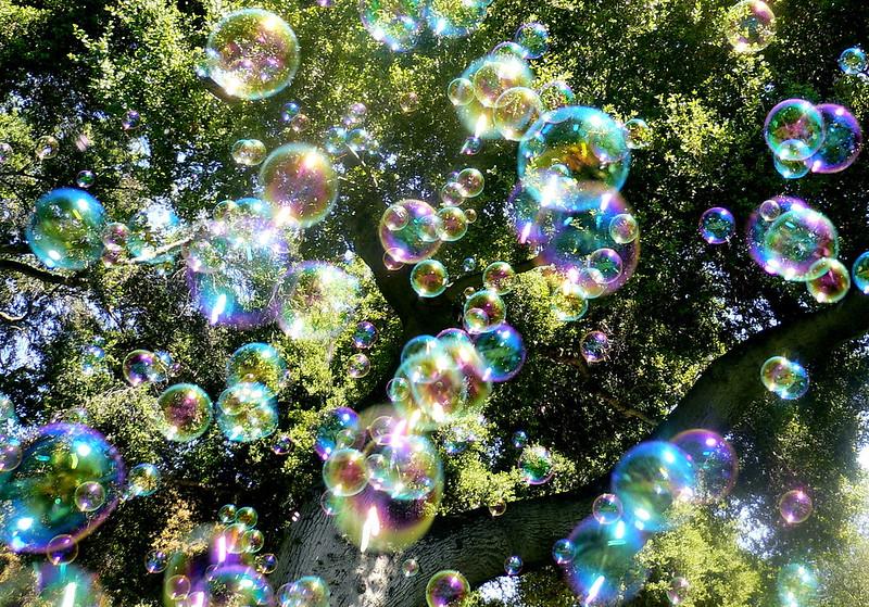 Kracht van kleur - Zeepbellen